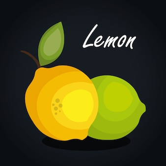 Icon lemon fruit design