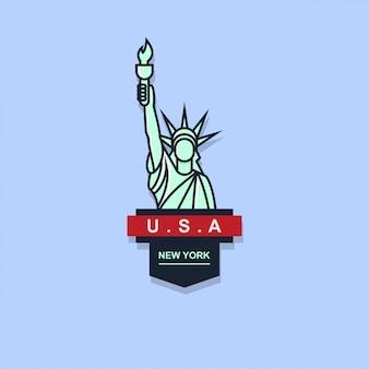 Icon logo badge of liberty