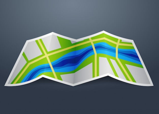 Icon map of the city
