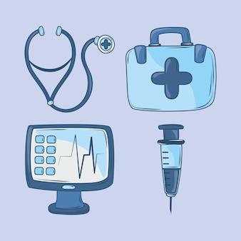 Значок медицинского медицинского оборудования