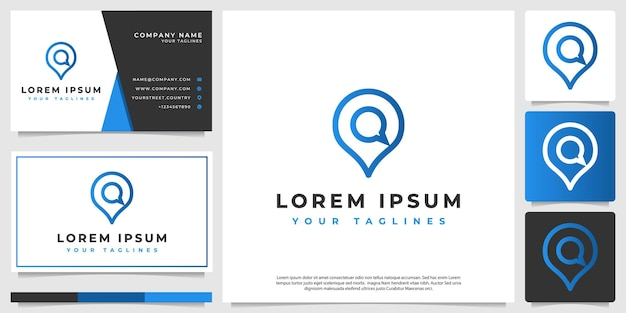 Icon modern logo pin and chat