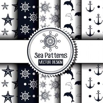 Icon nautical timon boat label isolated