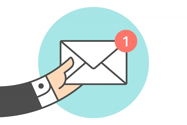 Icon of new mail envelope