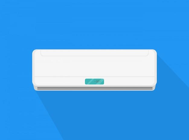 Икона кондиционирования воздуха с тенью. бытовой прибор.