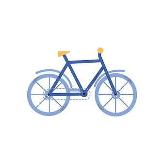 都市や自然の道に乗るための古典的な自転車のアイコンベクトル図
