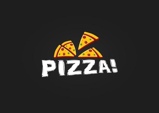 Икона кусок пиццы. современный шаблон логотипа пиццерии. эмблема ресторана итальянской кухни. дизайн логотипа кафе быстрого питания векторные иллюстрации. векторы