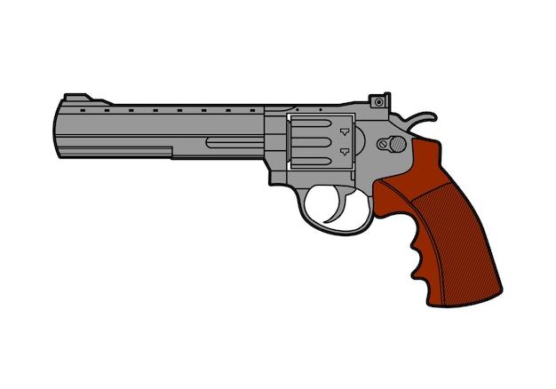 レトロな銃のアイコン。ラインスタイル。
