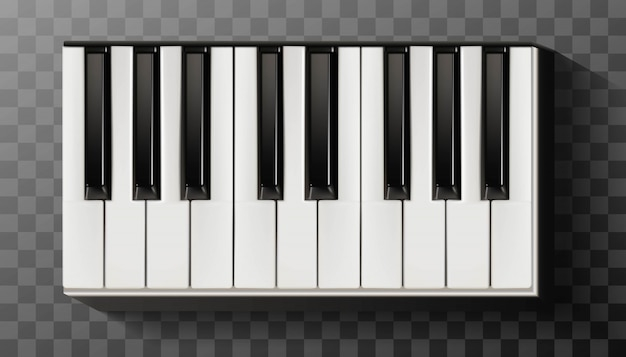 Icon  piano with keyboard black and white.