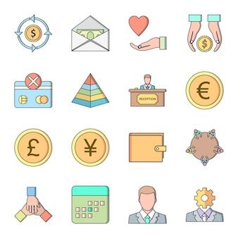 Icon set of banking