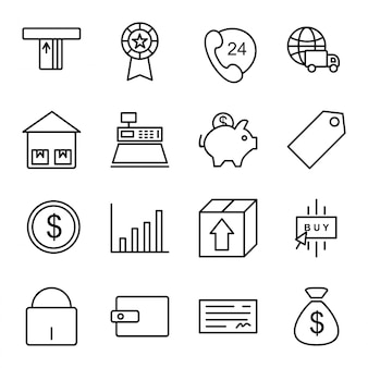 Icon set of e-commerce