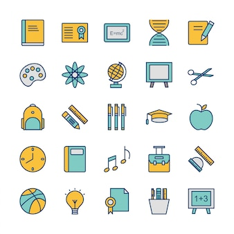 Icon set of education for personal and commercial use
