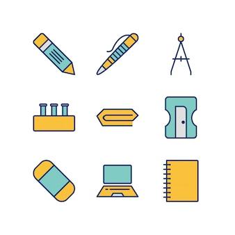 Icon set of education