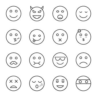 Icon set of emoji