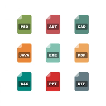Icon set of file formats