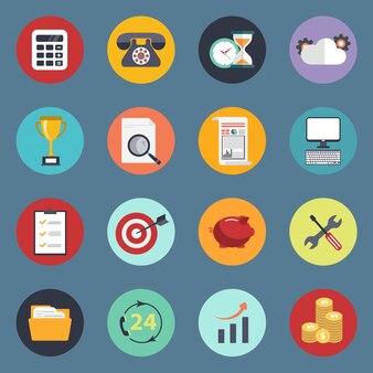Набор значков для веб-сайтов и мобильных приложений