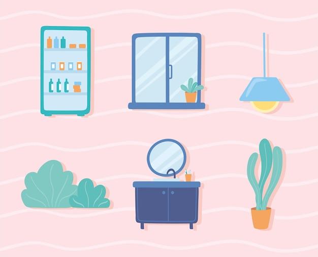 Набор иконок для украшения дома