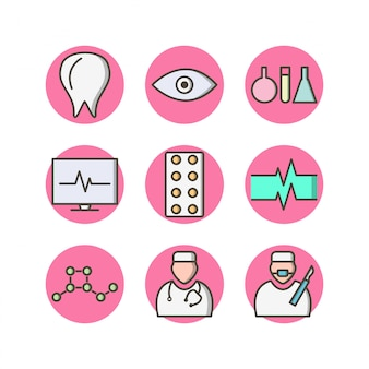 Icon set of medical