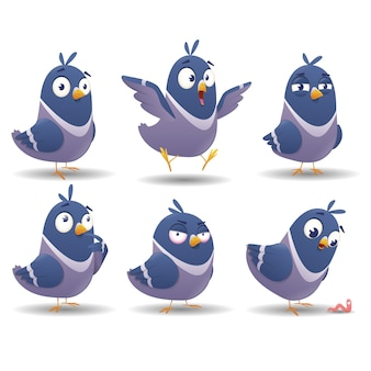 Набор иконок птицы набор символов