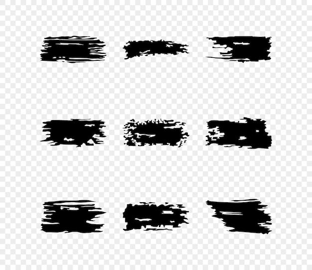 검은 페인트 브러시 획, 그림의 아이콘 세트
