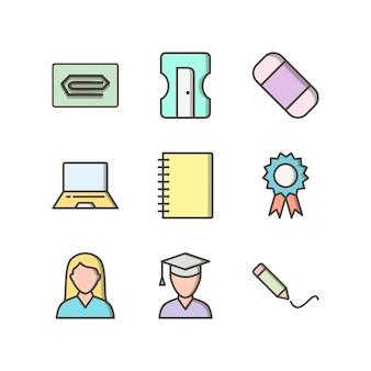 교육의 아이콘 세트