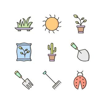 Набор иконок из садоводства