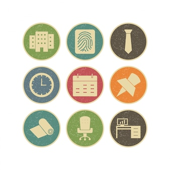 Icon set of office