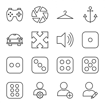 Icon set of universal
