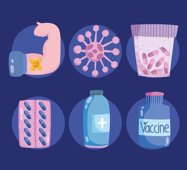 Набор иконок вакцины