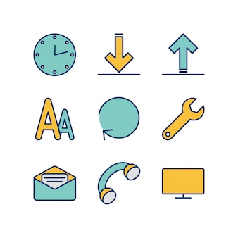 Icon set of web
