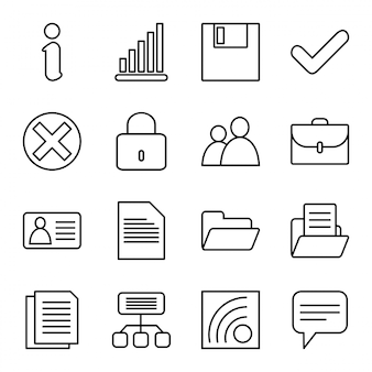 Icon set of websites