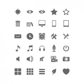 Социальные медиа плоским icon set