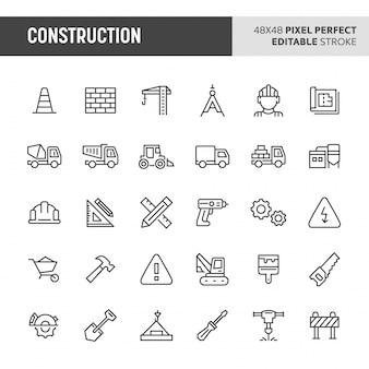 Строительство icon set