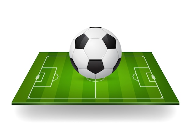 Icon of soccer ball on field.