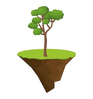 Icon tree bonsai design