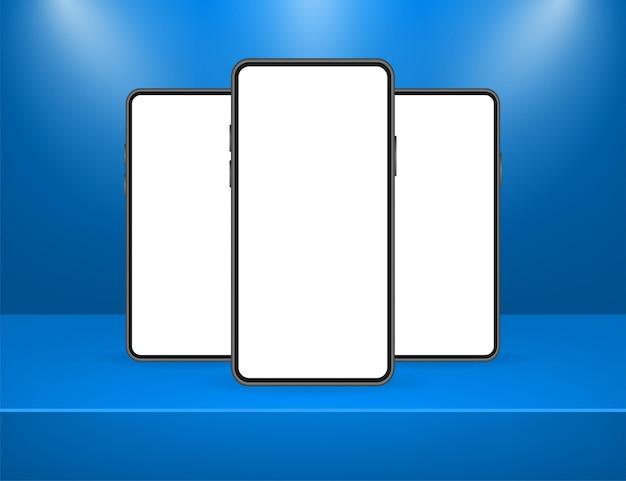 웹 디자인을위한 빨간색 배경에 파란색 모바일 ui 및 ux 디자인 아이콘