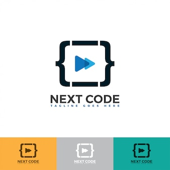 Next icon with code logo illustration