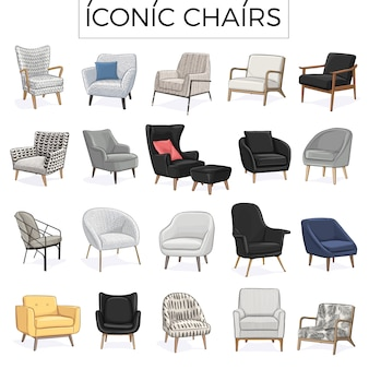 Iconic chair hand drawn illustration