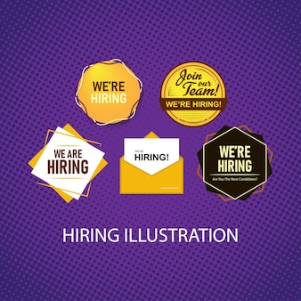 Iconic hiring illustration pack