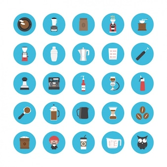 Icons about coffee