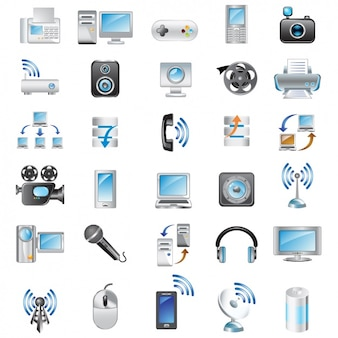 Icons about technology