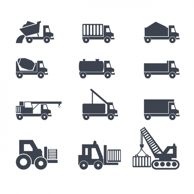 Icons about trucks