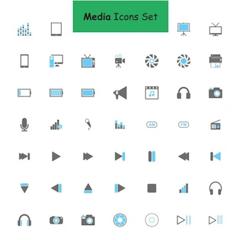 Icons for audio visual media