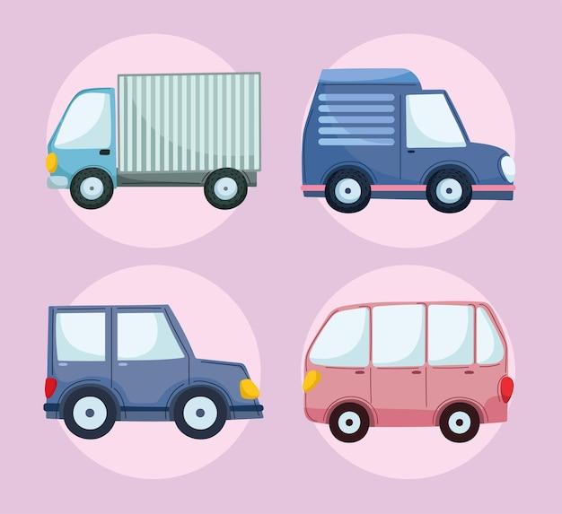 アイコン車とトラック