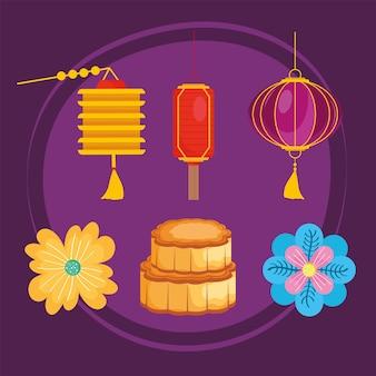 Иконы китайский фестиваль луны