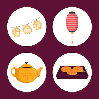 Icons of chuseok celebration