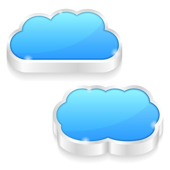 Icons of a cloud, illustration