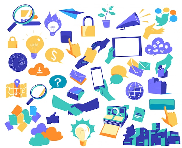 Icons for communication and digital innovation