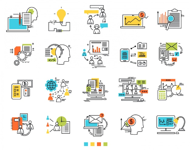 Icons for e-business engineering idea