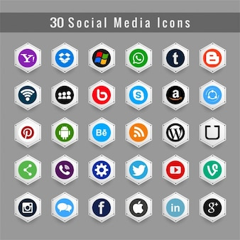 Icons for social media