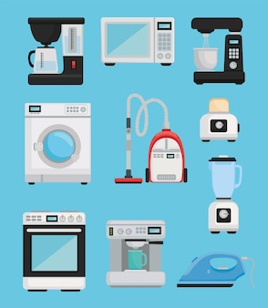 Icons home appliances